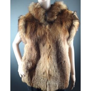 Fox real fur size S